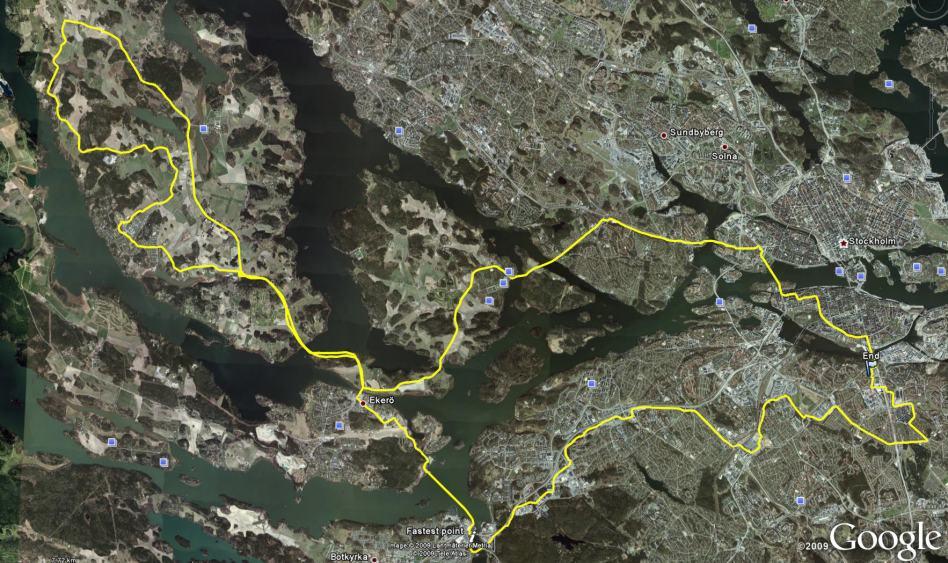 Klassisk åtta Gullmarsplan-Färingsö