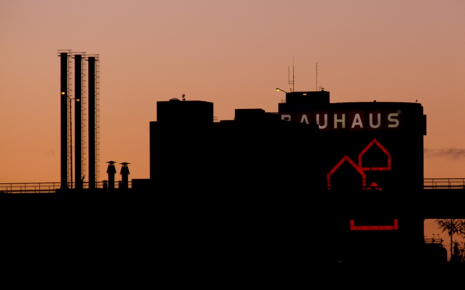 Bauhaus i solnedgång