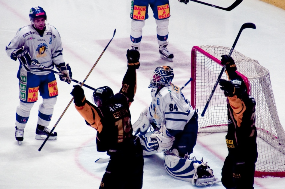 Tobias Ericsson gör mål mot Sundsvall