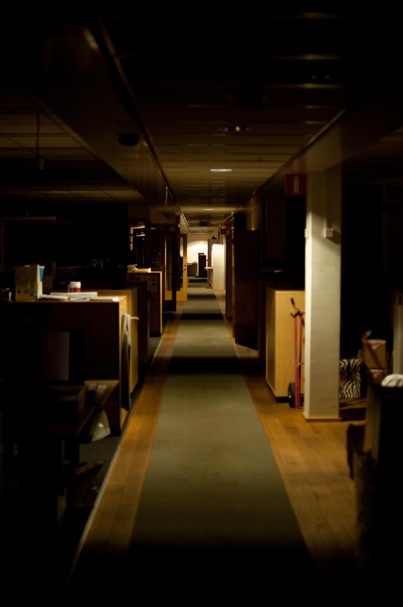 Kontoret på kvällen