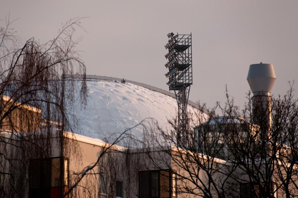 Snö på globen