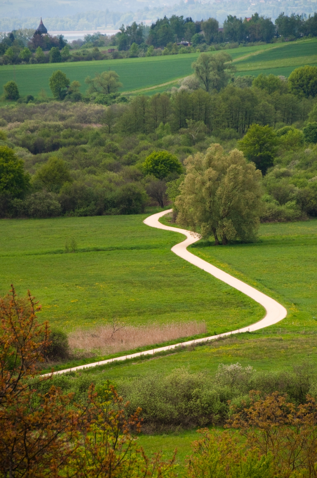 Grusväg Winding road gravel bodensjön bodensee lake constance