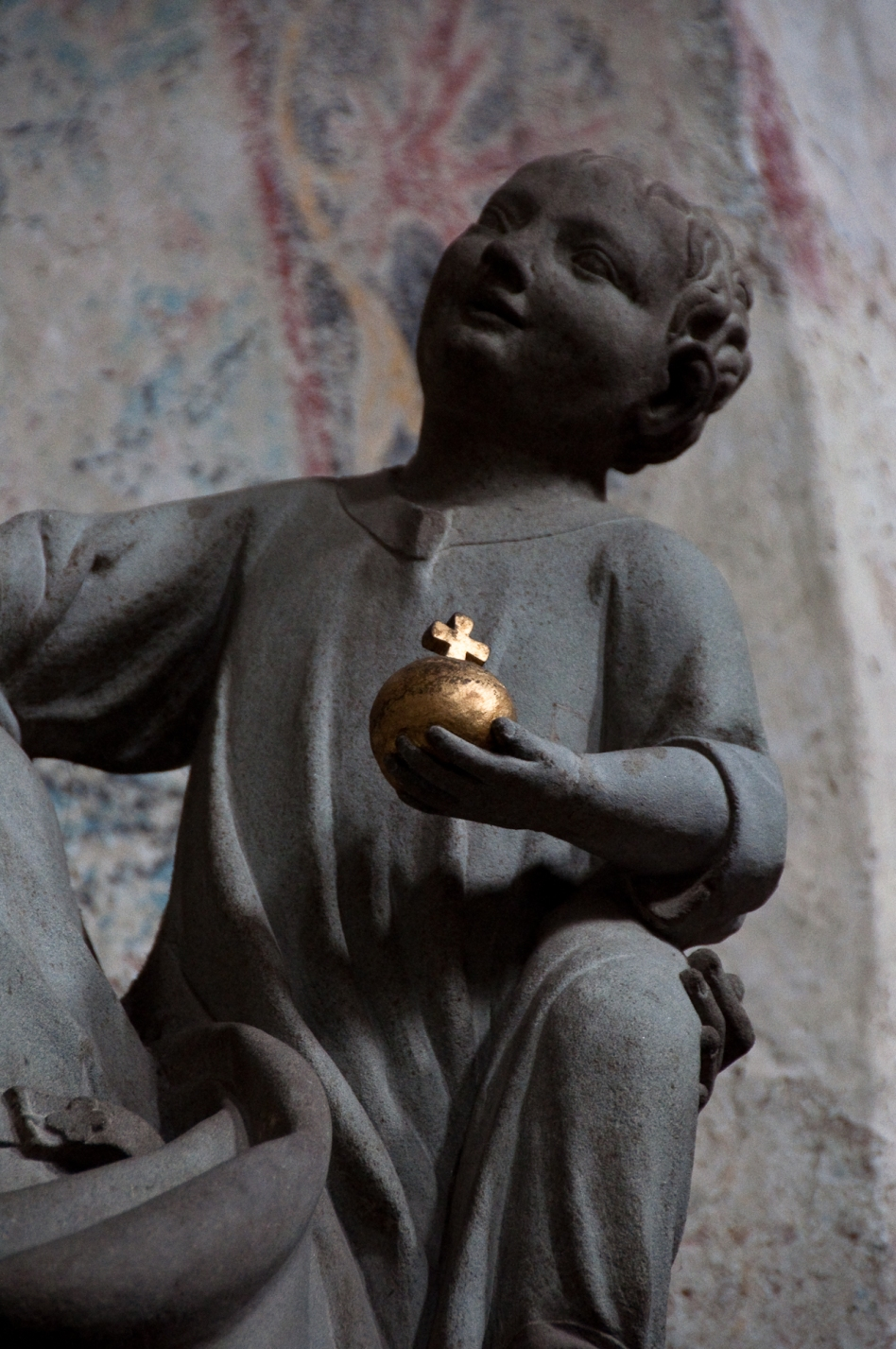 putti kyrka church guld äpple gold apple Reichenau