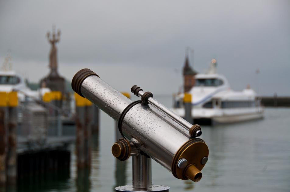 Konstanz hamn harbour kikare tourist binoculars bodensjön bodensee lake constance