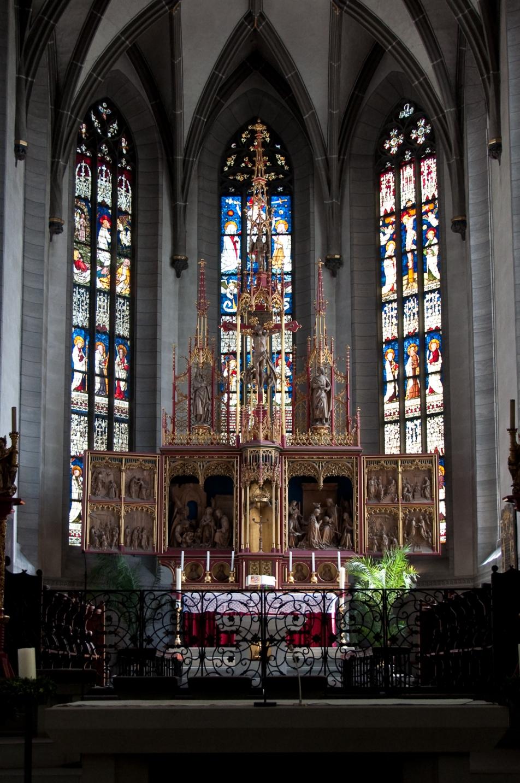 radolfzell kyrka church kor blyglasfönster glass window mosaik