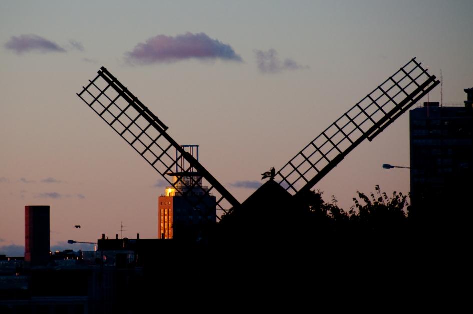 Gullmarsplan solnedgång kvarnen haglunds torn