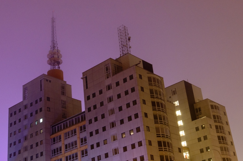 Globen City by night