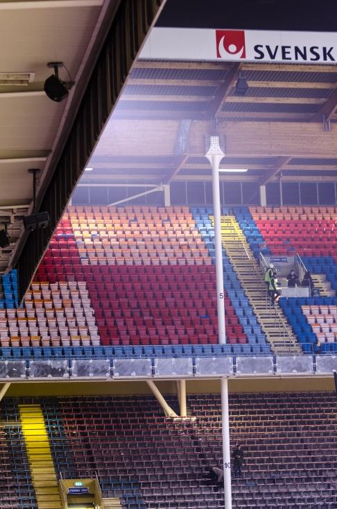 AIK-Napoli på Råsunda - Södra töms