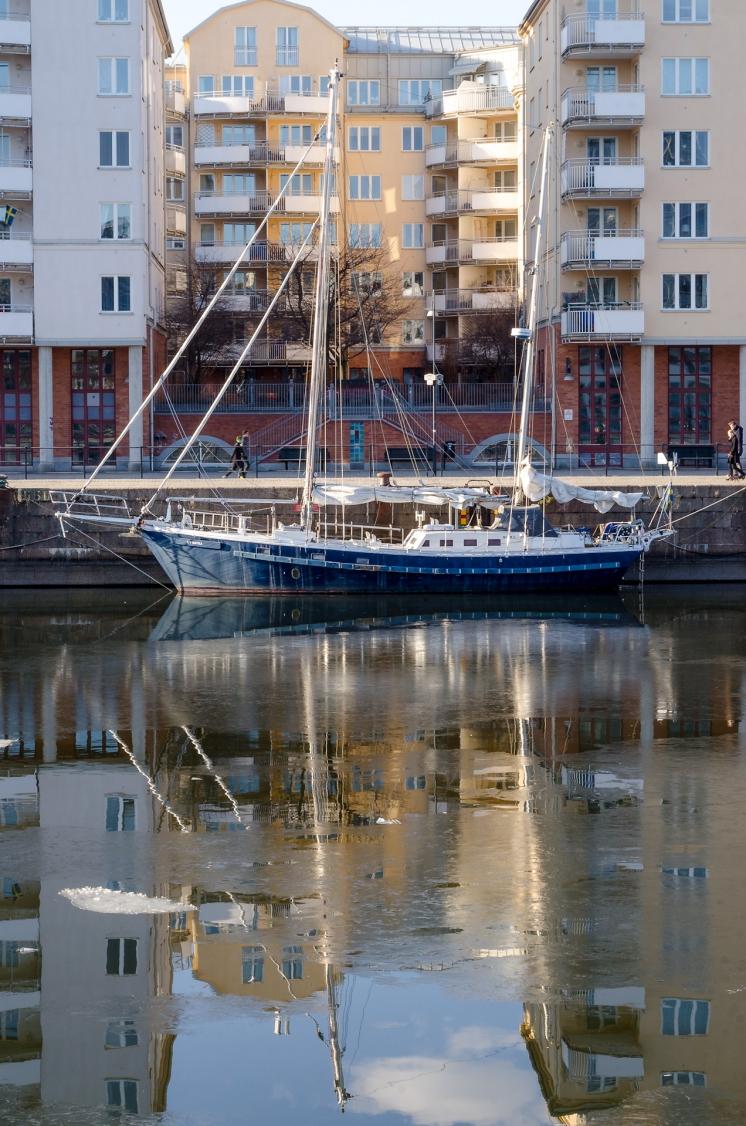 Seglare Norra Hammarbyhamnen
