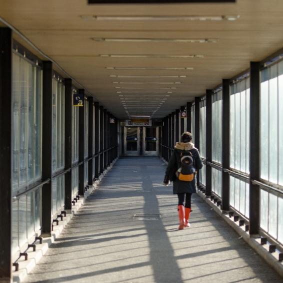 På väg mot Hissbanan