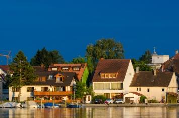 Solglimt över Konstanz
