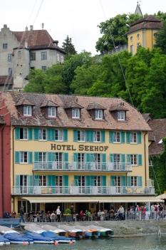 Seehof Meersburg, bra ställe att skriva sin första roman på