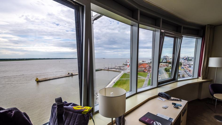 Panoramafönster på rummet