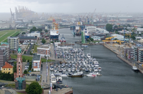 Utsikt från hotellets tak