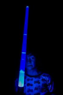 Duell med lasersvärd