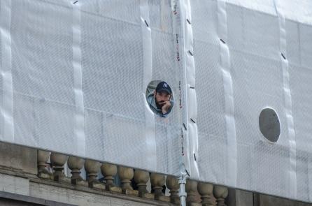 Civilare filmar från operans balkong