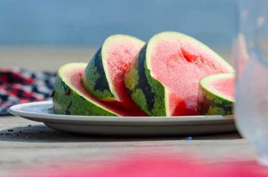 Vattenmelon vid havet