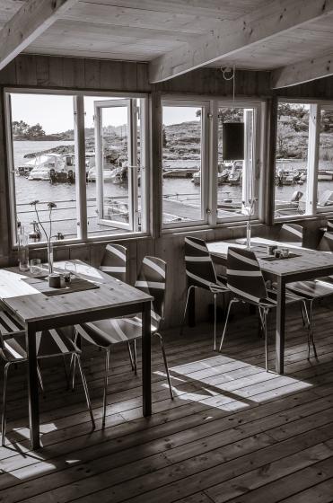 Onödigt lyxig restaurang på Torö