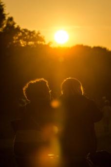 Solnedgång över Nytorps Gärde