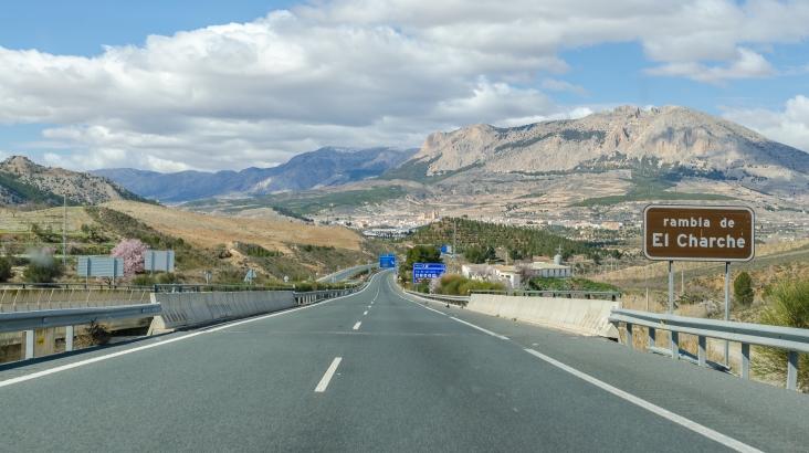 Motorväg mot Andalusien
