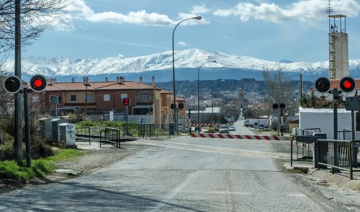 Guadix vilar mot Sierra Nevada