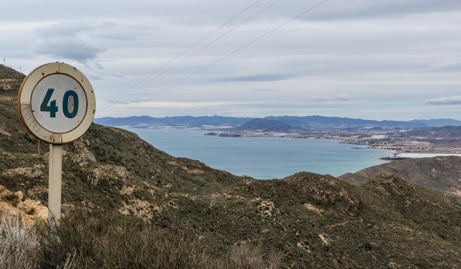 Utsikt mot Puerto de Mazarrón