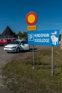 Kiruna flygplats har udda parkering
