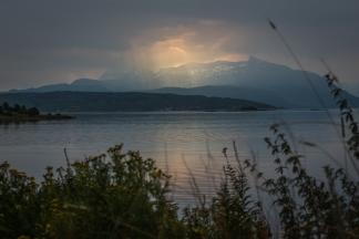 Solglimt över Narvik
