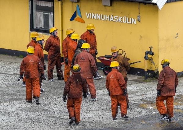 Sjömansskolan tränar brand ombord