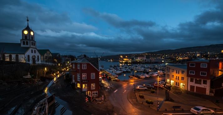 Tórshavn by night