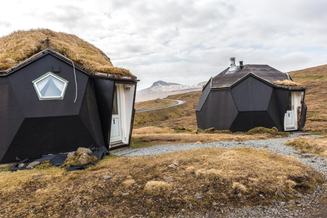 Experimentellt modulbygge, blev bara två hus