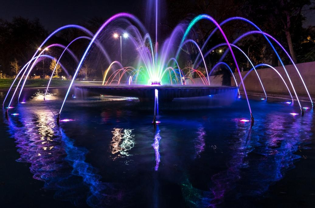 Vegas-fontän i Hyde Park