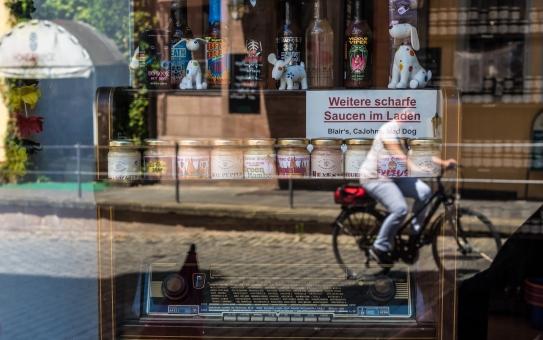 Radio i Nürnbergs bästa senapsbutik