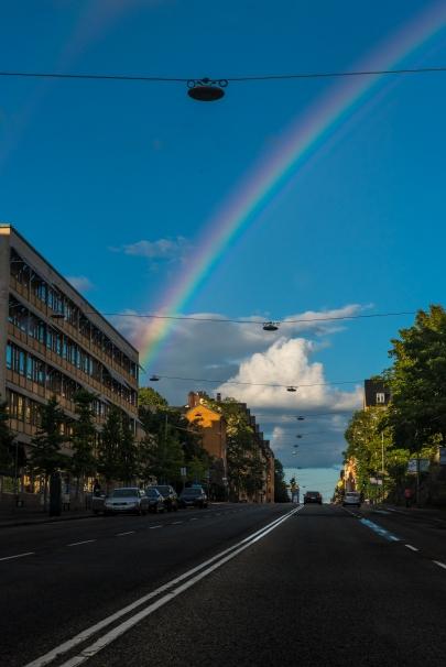 Samma regnbåge, nu på Hornsgatan