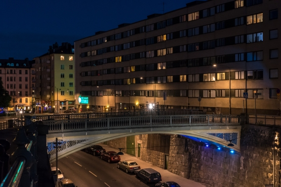 Lundabron by night