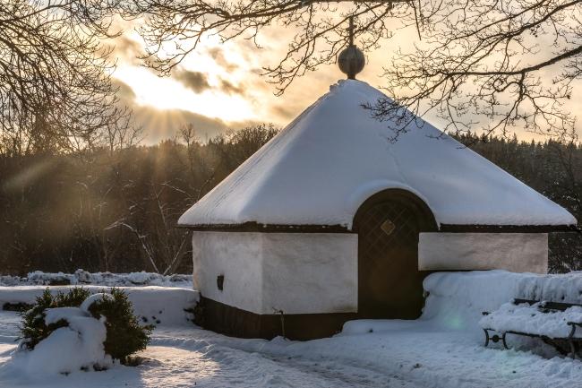 Gott om snö i Lapplands Väsby