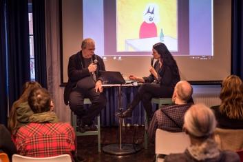 Nina Hemmingsson och hennes kompis Gunnar Lundkvist