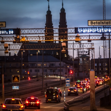 broöppning på Liljeholmsbron