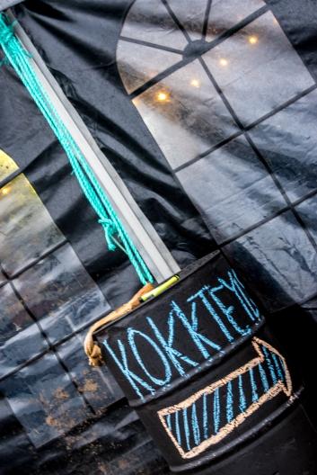 Tält med kokkteil-bar