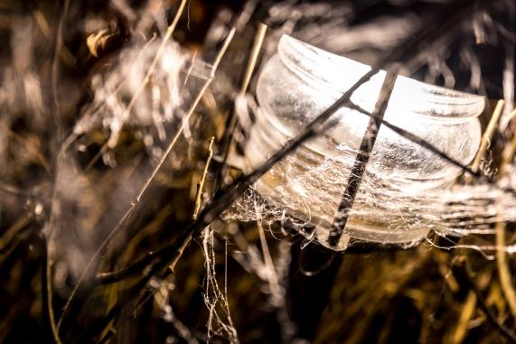 Spray-on spindelnät
