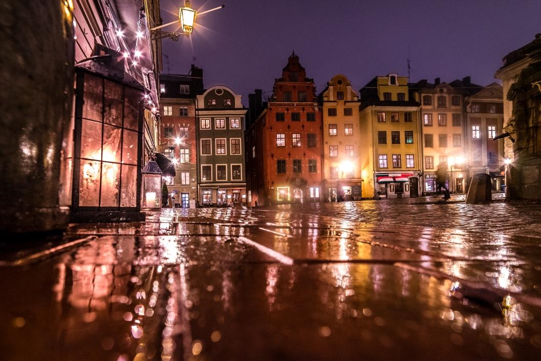 Stortorget efter monsunen