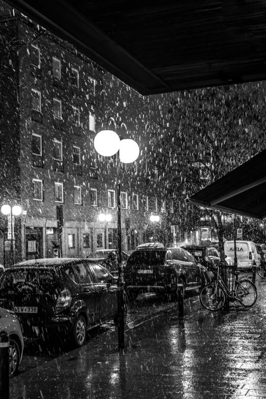snö på Gullmarsplan