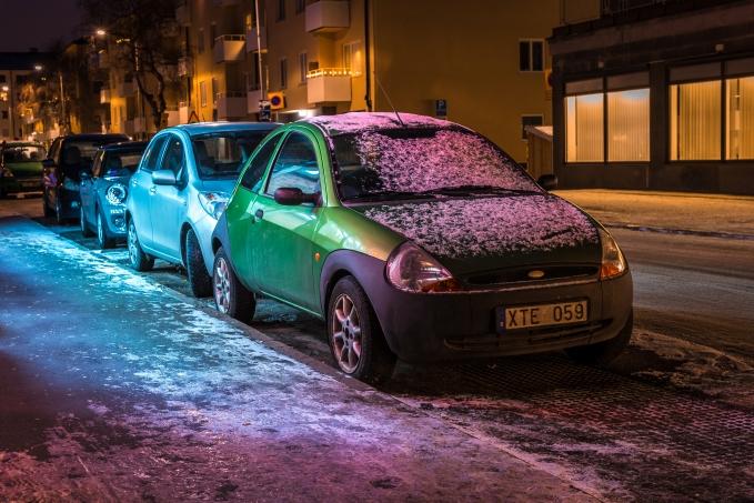 söt grön bil på Grafikvägen