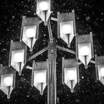 Snygga lampor på Riddarholmskajen