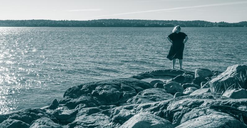 Kvällsfläkt över Baggensfjärden
