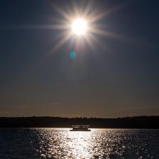 Husbåt på hemväg
