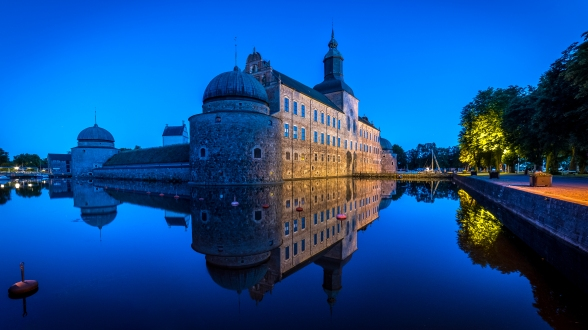 Vadstena slott by night