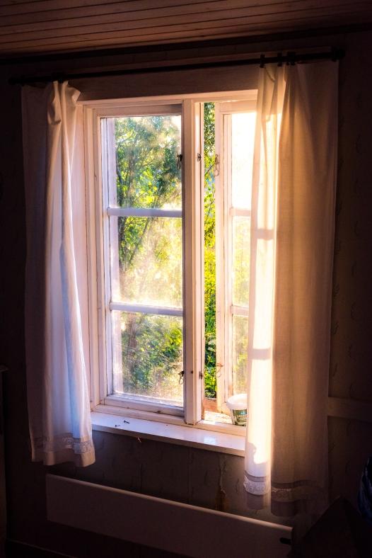 Lånetorpets sovrumsfönster
