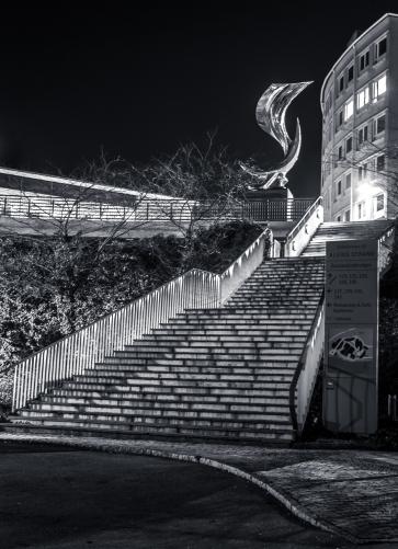 Kaxig trappa i Alviks Strand